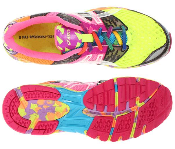 asics gel-noosa tri 8 w flash yellow/flash pink/mu